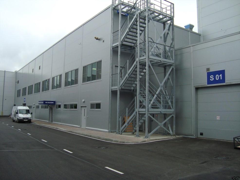 Реконструкция здания пристройки к корпусу №1 в осях «1-9»/ «А-G» в целях расширения цеха сварки