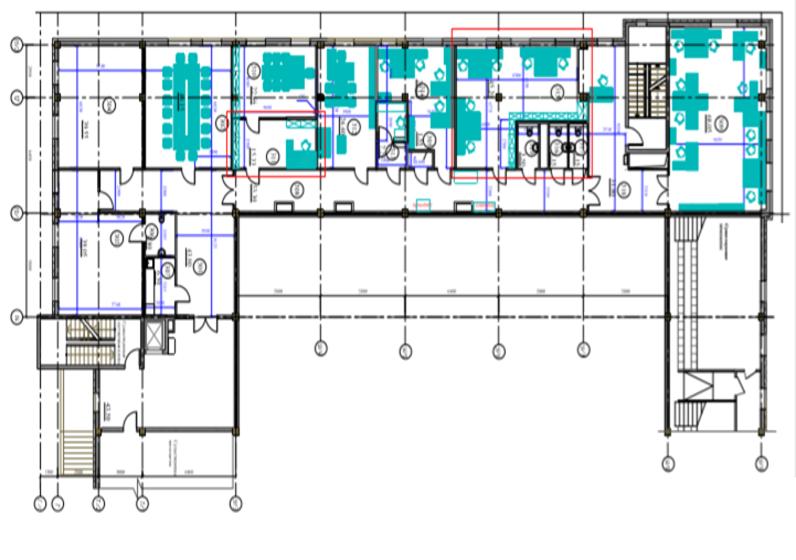 Капитальный ремонт с перепланировкой и  модернизацией оборудования  в нежилых помещениях здания