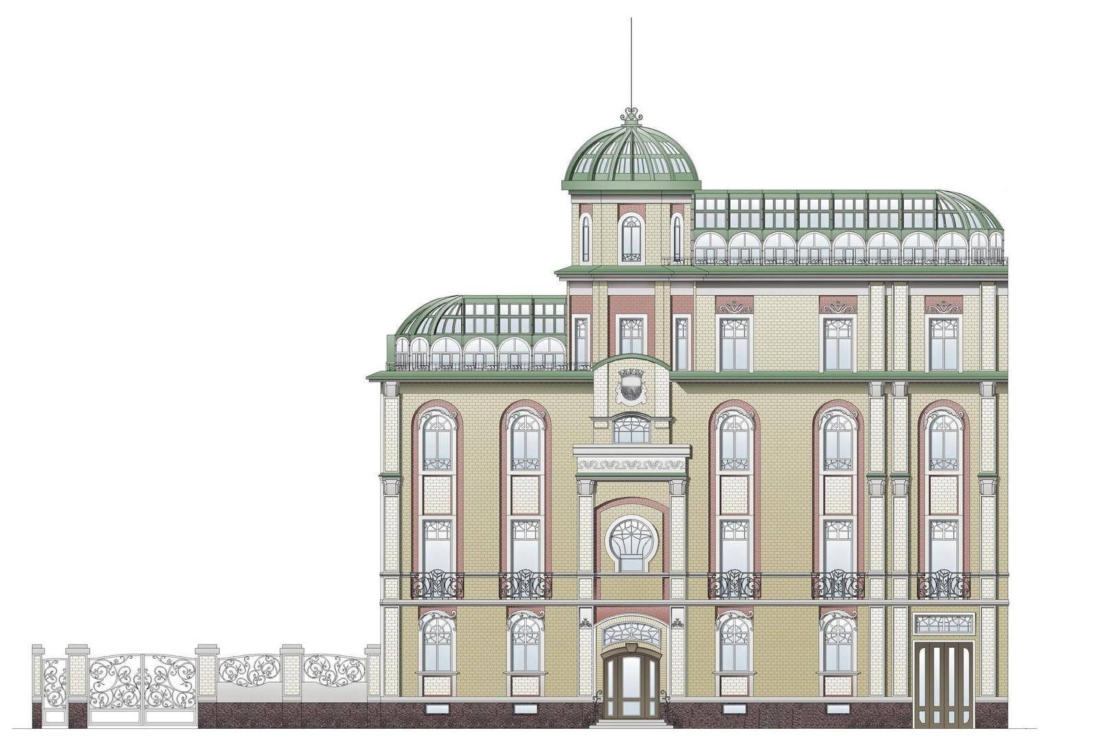 Проект реконструкции жилого дома в охранной зоне КГИОП  по адресу: СПб, наб.к. Грибоедова, д. 156.