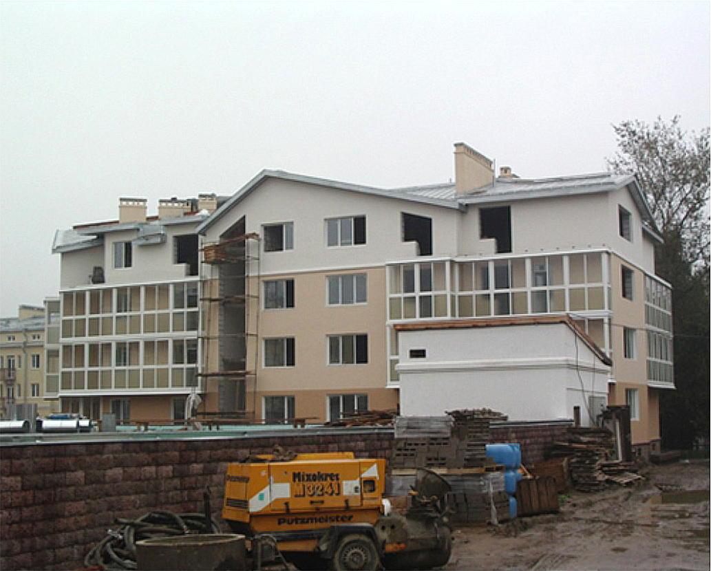 Строительство жилого дома  по адресу: СПб, Стрельна, Санкт-Петербургское шоссе, д. 112.