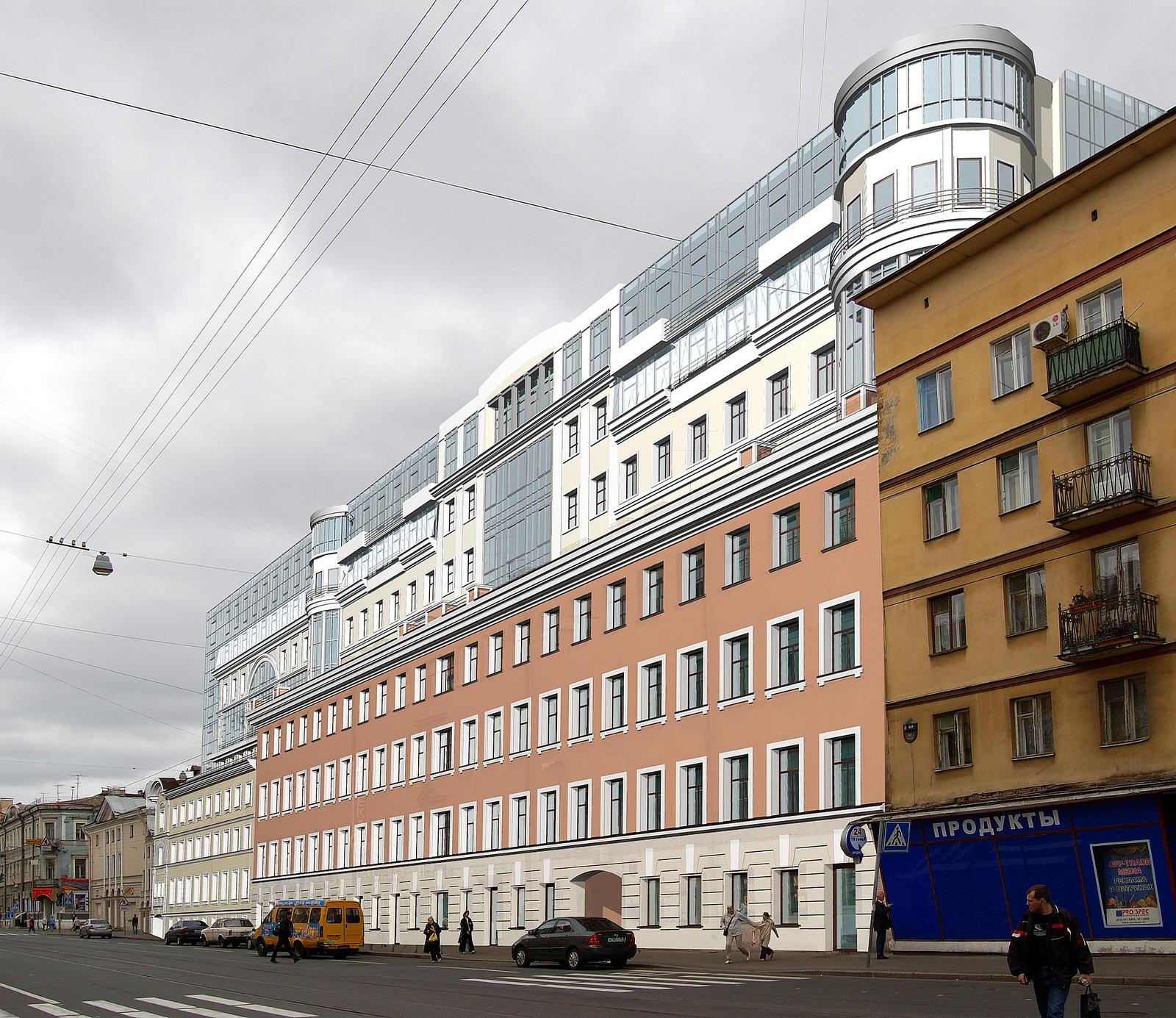 Реконструкция жилых зданий по адресу: СПб, ул. Садовая д.71-73