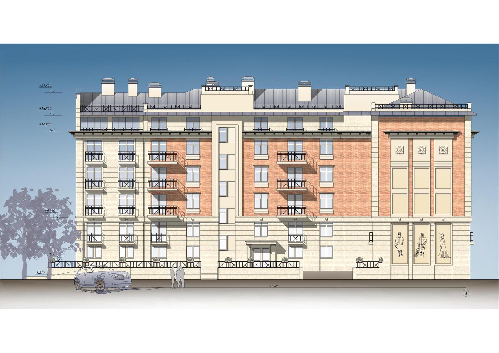 Строительство жилого дома с пристроенным подземным гаражом по адресу: СПб, ул. Савушкина, 14б